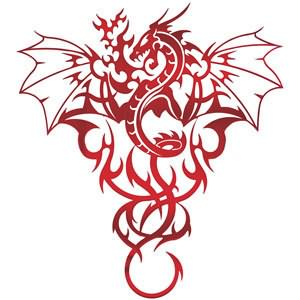 Tribal design dragon tattoo Tribal Dragon