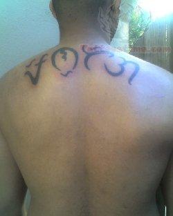 c08e97416 Alibata Tattoo On Men Upperback