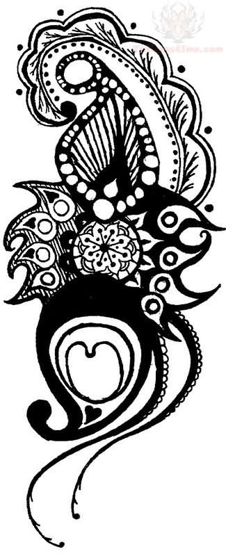 Paisley Feather Tattoo Design Images amp Pictures Becuo