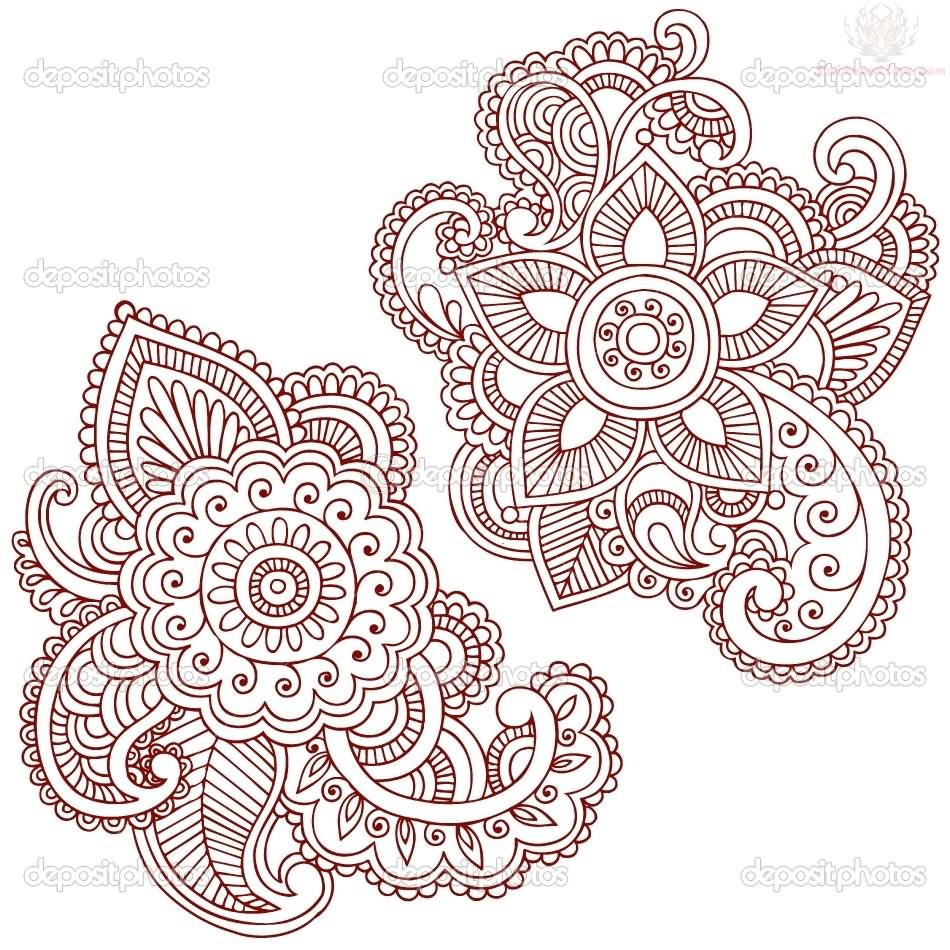 Paisley Pattern Tattoo Images Amp Designs