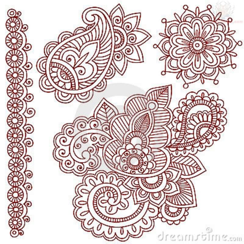 paisley pattern tattoo images designs. Black Bedroom Furniture Sets. Home Design Ideas
