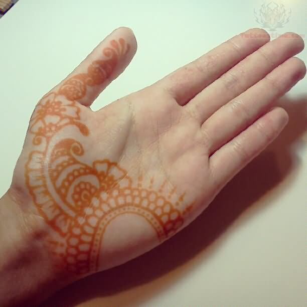 Henna Paisley Pattern Tattoo On Arm