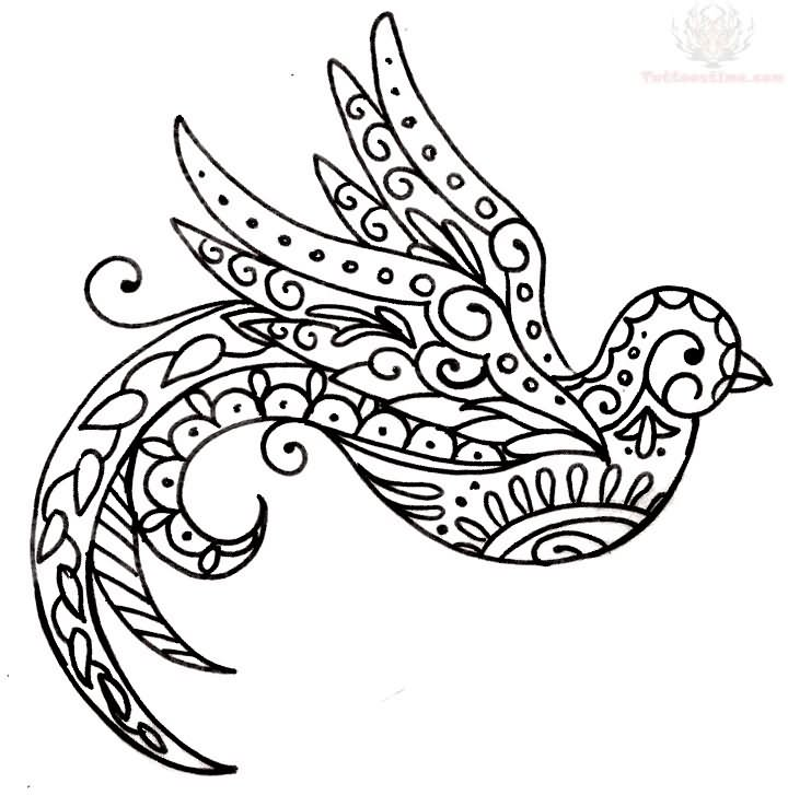 Simple Paisley Designs Coloring Pages