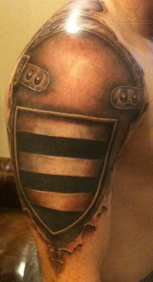 Shoulder Armor Tattoo For Men