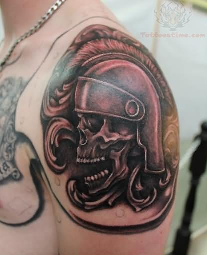 Shoulder Armor Tattoo