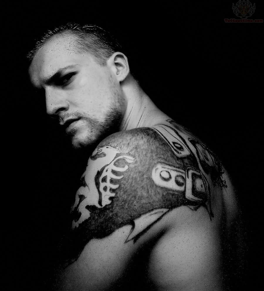 Viking shoulder tattoos