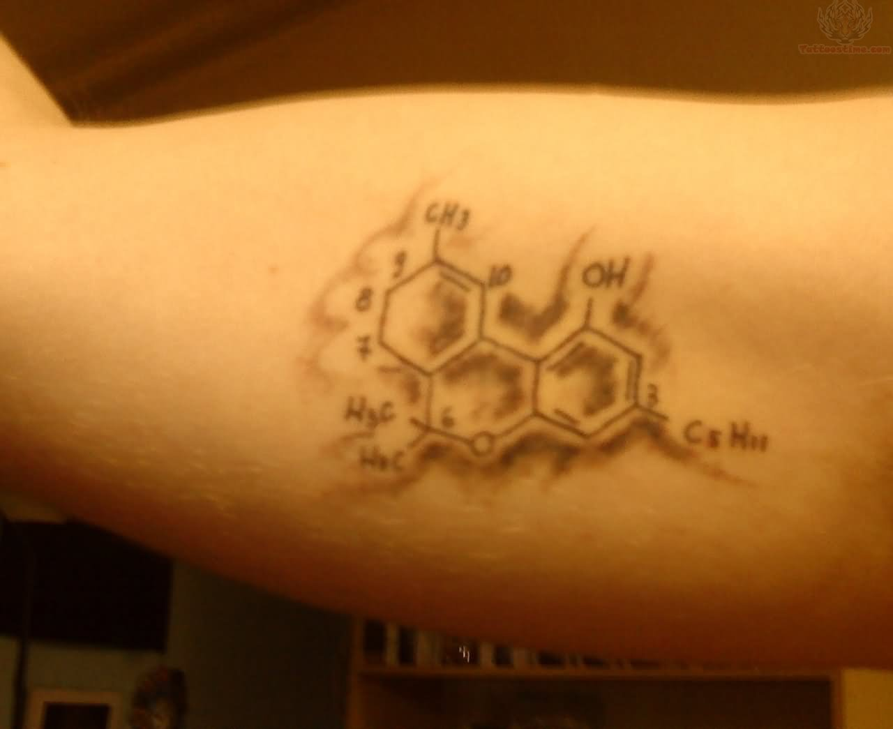 The gallery for caffeine molecule tattoo for Caffeine molecule tattoo