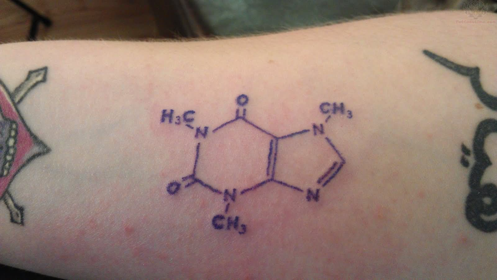 caffeine molecule tattoo images designs