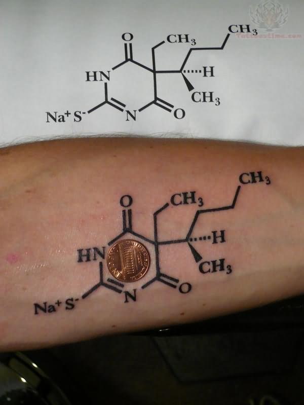 caffeine molecule tattoo images  u0026 designs