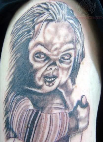 75319c468 Chucky Tattoo With Grey Ink