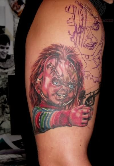 Chucky With Knife Tattoo
