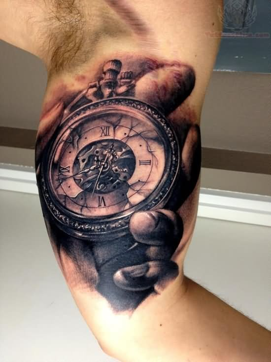 Dark Grey Ink Clock