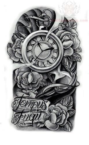tribal tattoo instagram Fugil Clock Design Tempus Tattoo