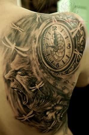 Clock Tattoo Images amp Designs