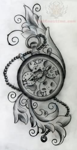 Clock Tattoo Images & Designs