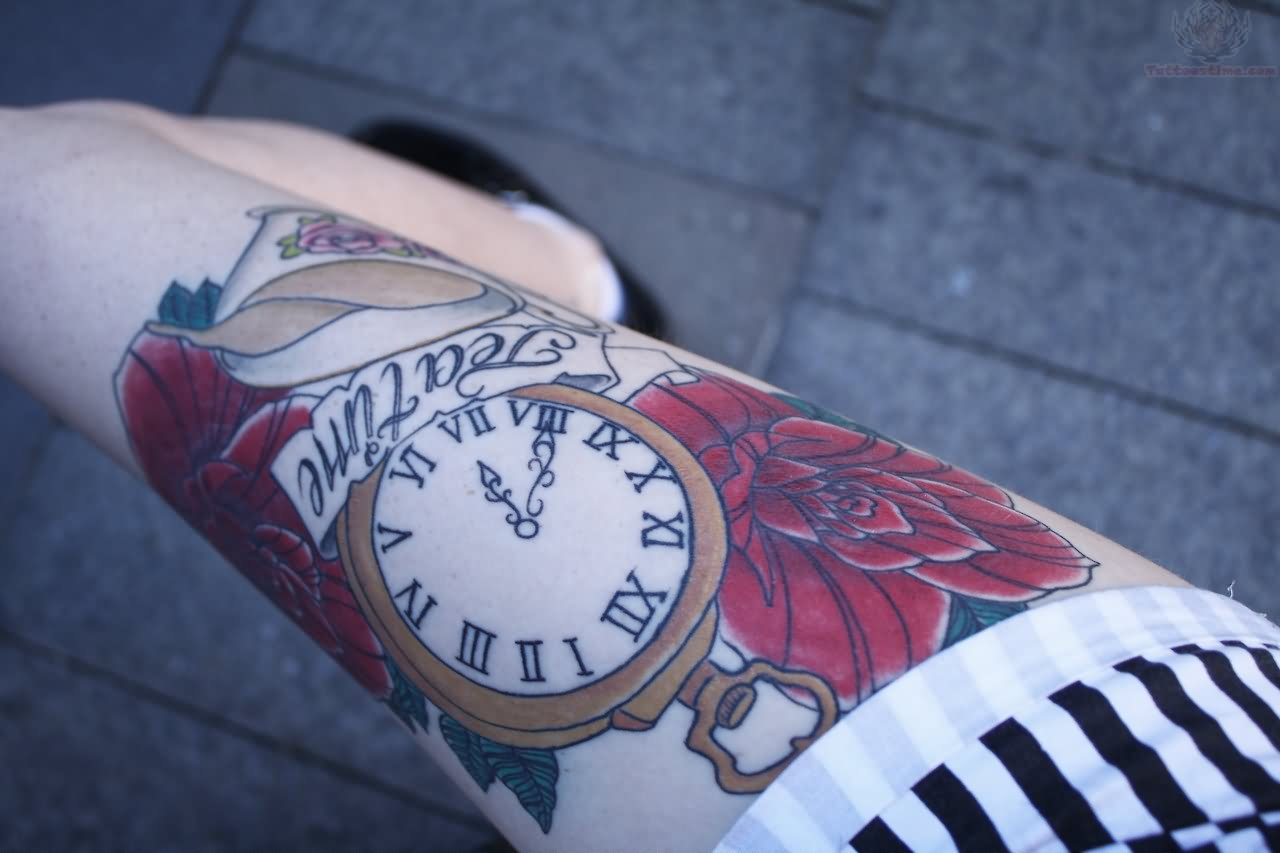 Clock Tattoo Images Amp Designs