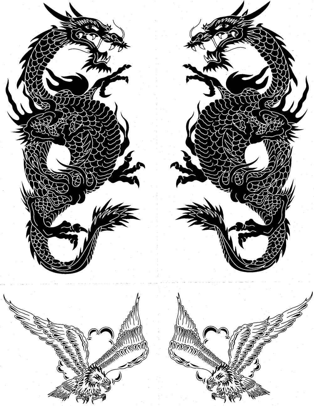 Eagle Tattoo Samples Gallery
