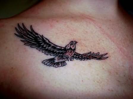 Elegant flying eagle tattoo for Small eagle tattoo