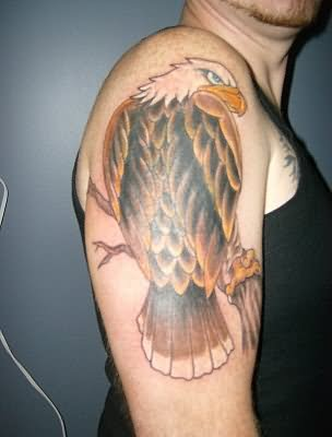german eagle tattoo on shoulder. Black Bedroom Furniture Sets. Home Design Ideas