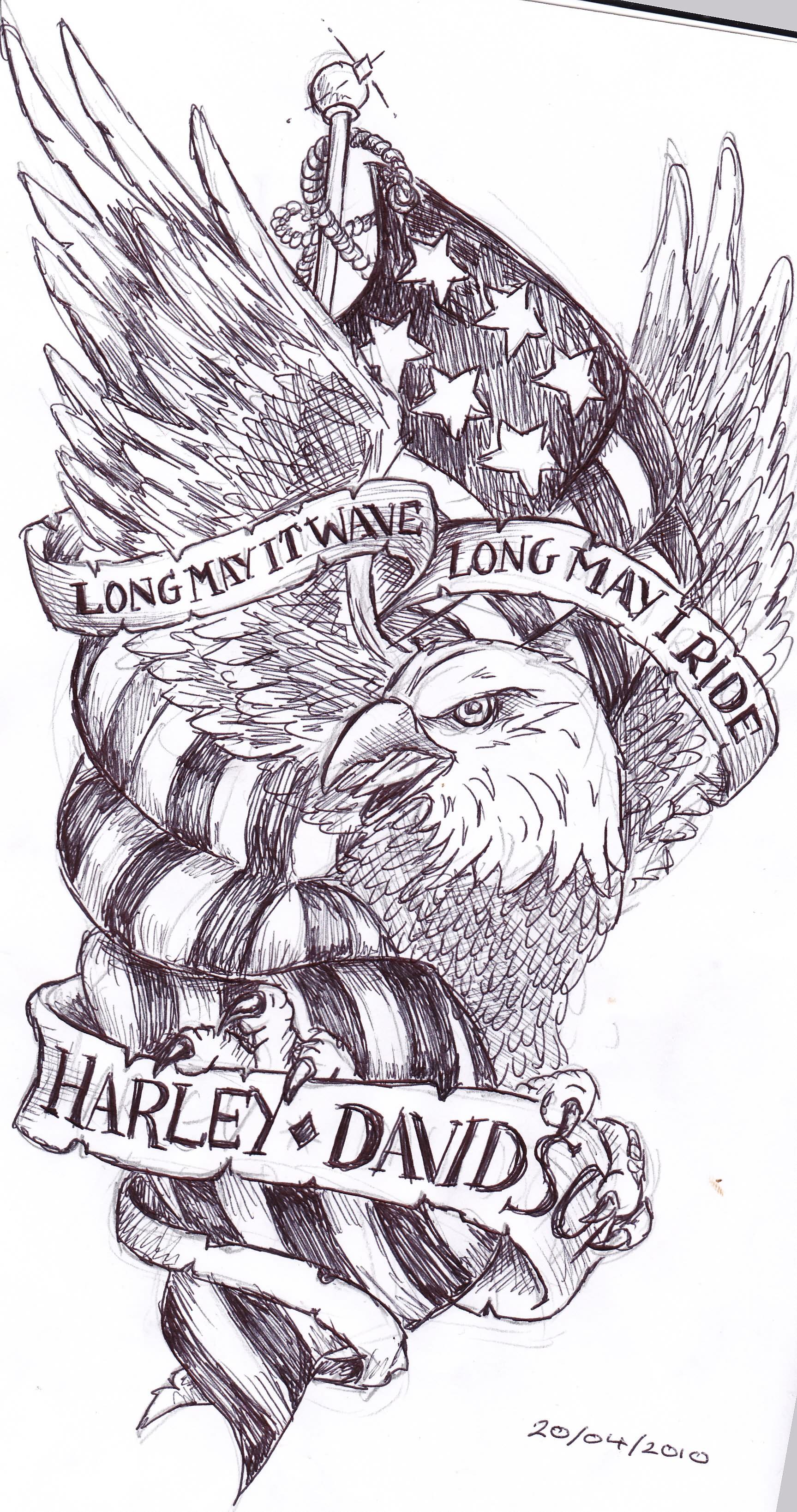 Harley-Davidson Eagle Tattoos