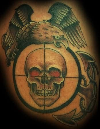 Skull And Eagle Tattoo