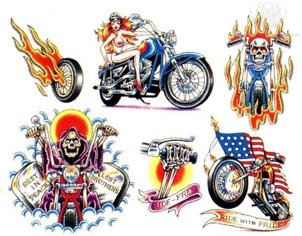 Biker tattoos ideas and pictures male models picture for Free harley davidson tattoo designs