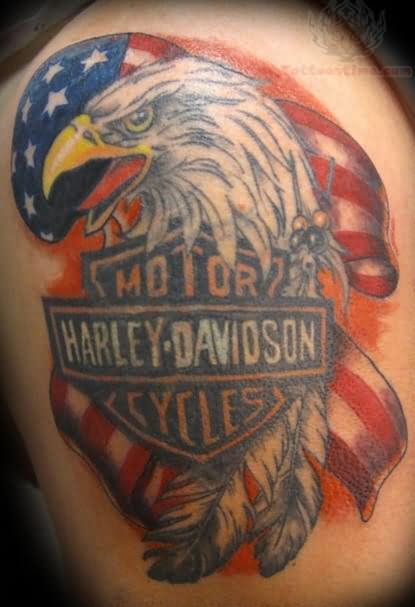 Aninimal Book: Harley Davidson Tattoo Images & Designs