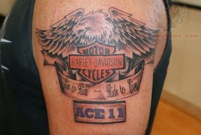Harley Davidson Tattoo Images &amp Designs