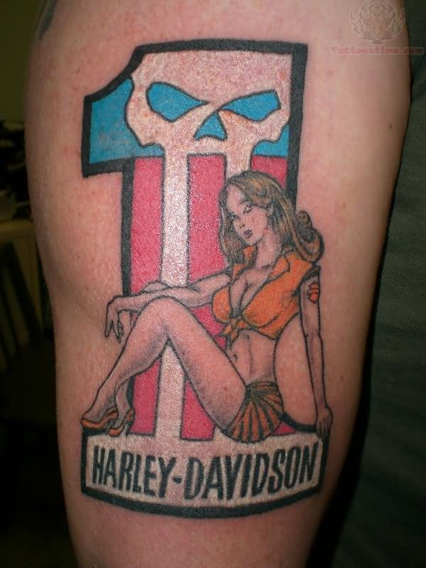 Harley davidson and pin up girl tattoo freerunsca Images