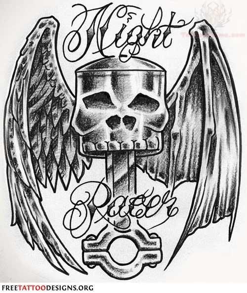 Harley-Davidson Skull Tattoo Designs