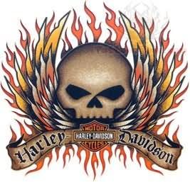 Harley davidson skull tattoo design