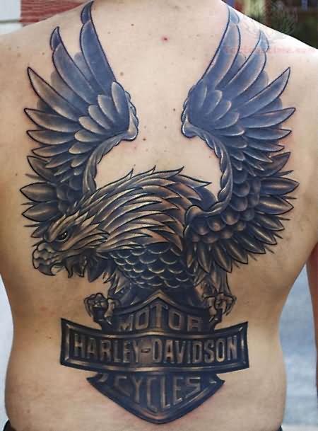 eagle harley davidson tattoo joy studio design gallery best design. Black Bedroom Furniture Sets. Home Design Ideas