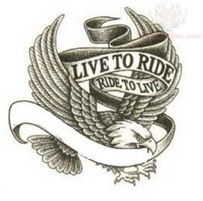 live to ride harley davidson tattoo design. Black Bedroom Furniture Sets. Home Design Ideas
