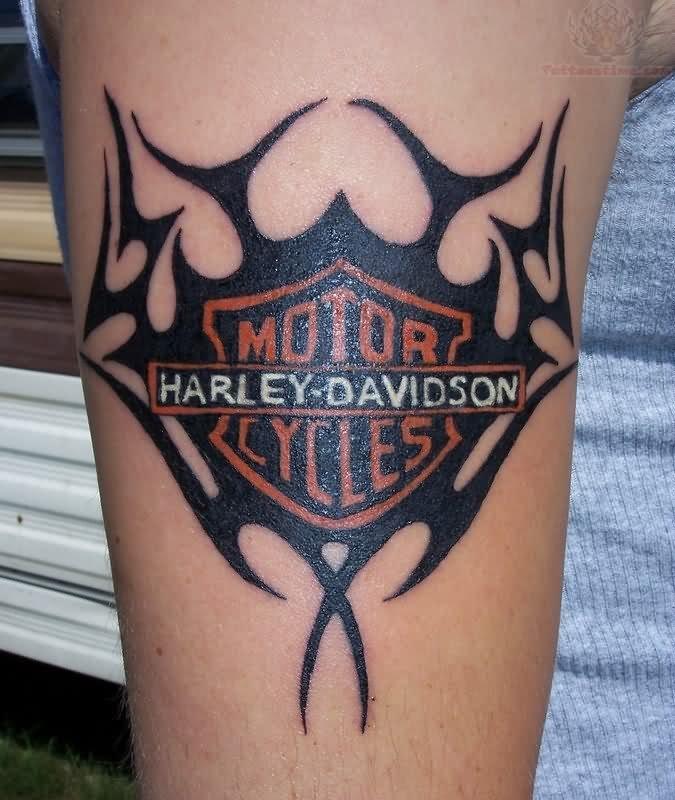 Motor cycles harley davidson tattoo designs