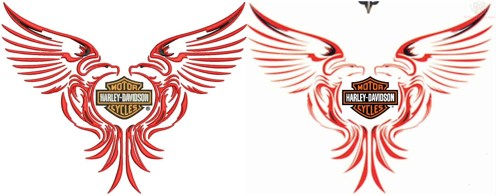 Harley Davidson Logo With Angel Wings