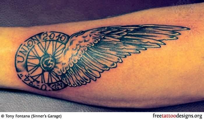 Winged Wheel - Harley Davidson Tattoo