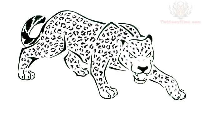 Jaguar Sitting Tattoo Design