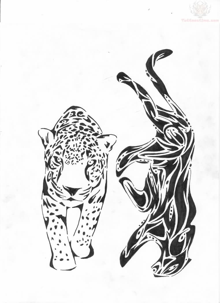 tribal jaguar tattoo designs Designs And Jaguar Tattoo Walking Jaguar Tribal