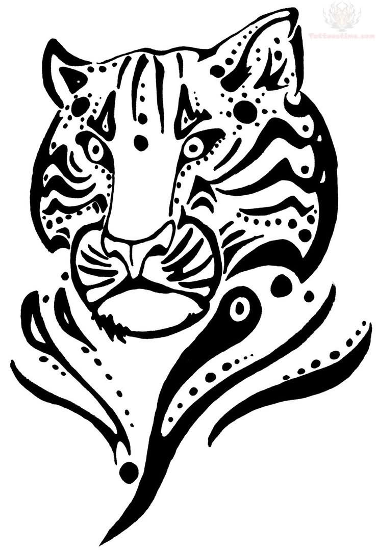 jaguar tattoo tribal designs Pages Tattoo  Photos Picture Pics Colouring Tiger  Tribal