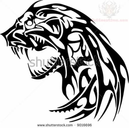 Jaguar Tribal Tattoo Designs