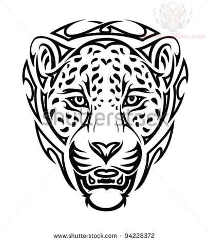 ef0ac77e5e95e Tribal Jaguar Tattoo Images & Designs