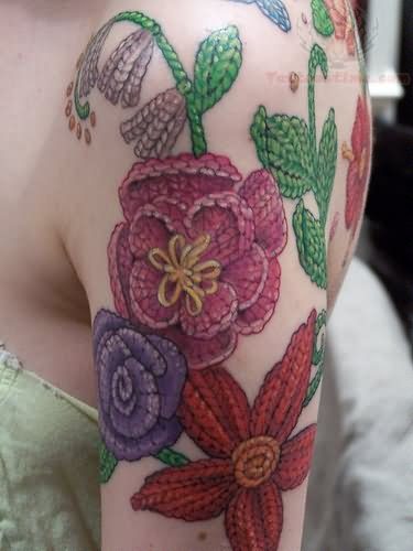 Knitting Tattoo Sleeve : Knitting tattoo images designs