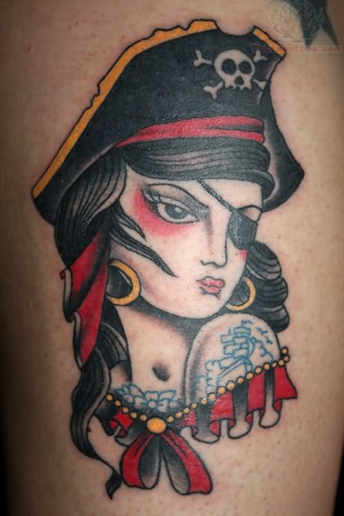 Pirate Girl Tattoo Images & Designs - photo#9