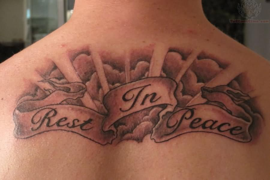 Rest in peace clouds tattoo for Tattoo pictures of clouds