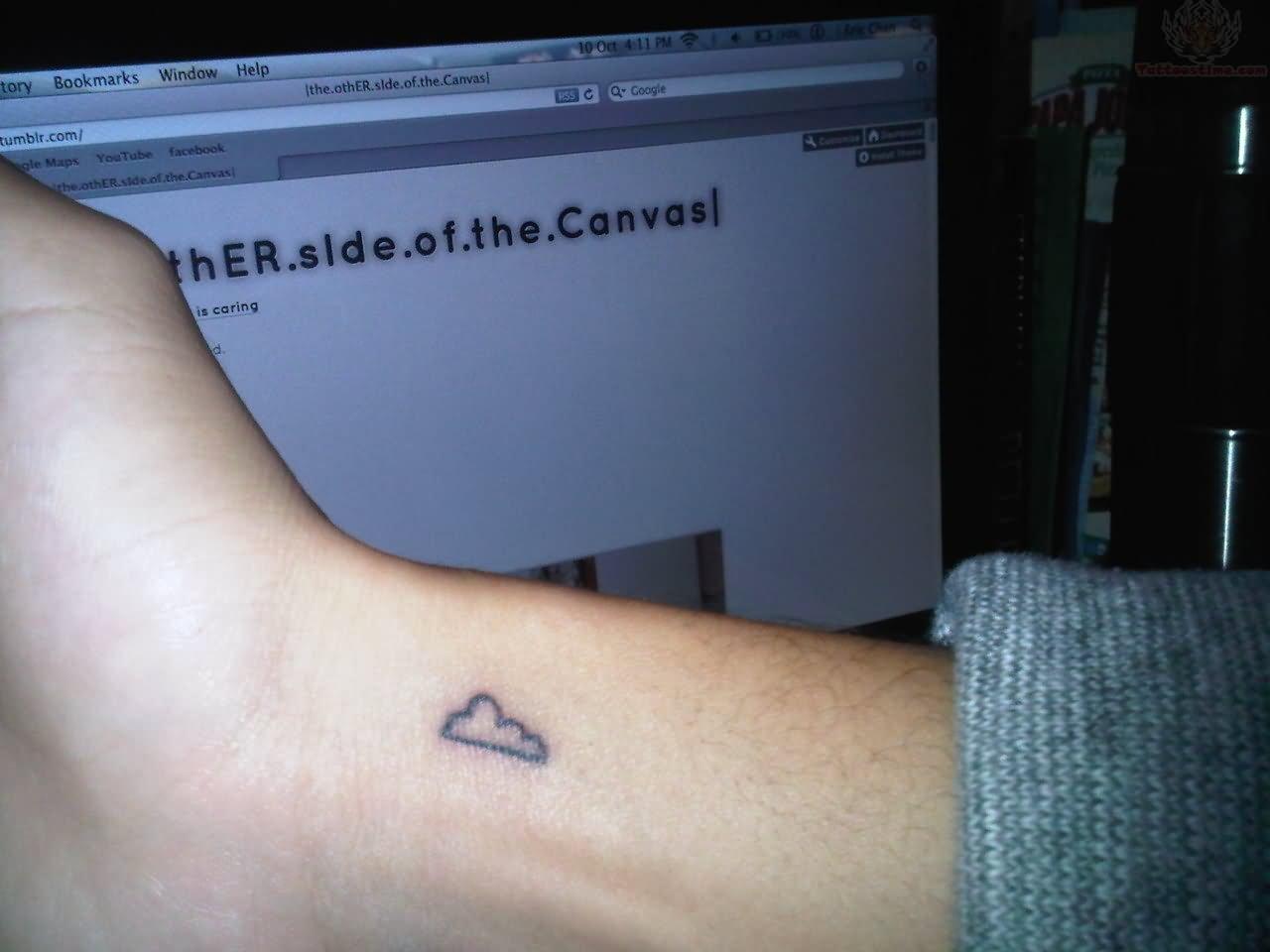 Tiny Cloud Tattoo