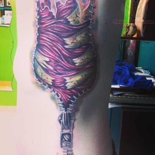Zipper Tattoo Images & Designs