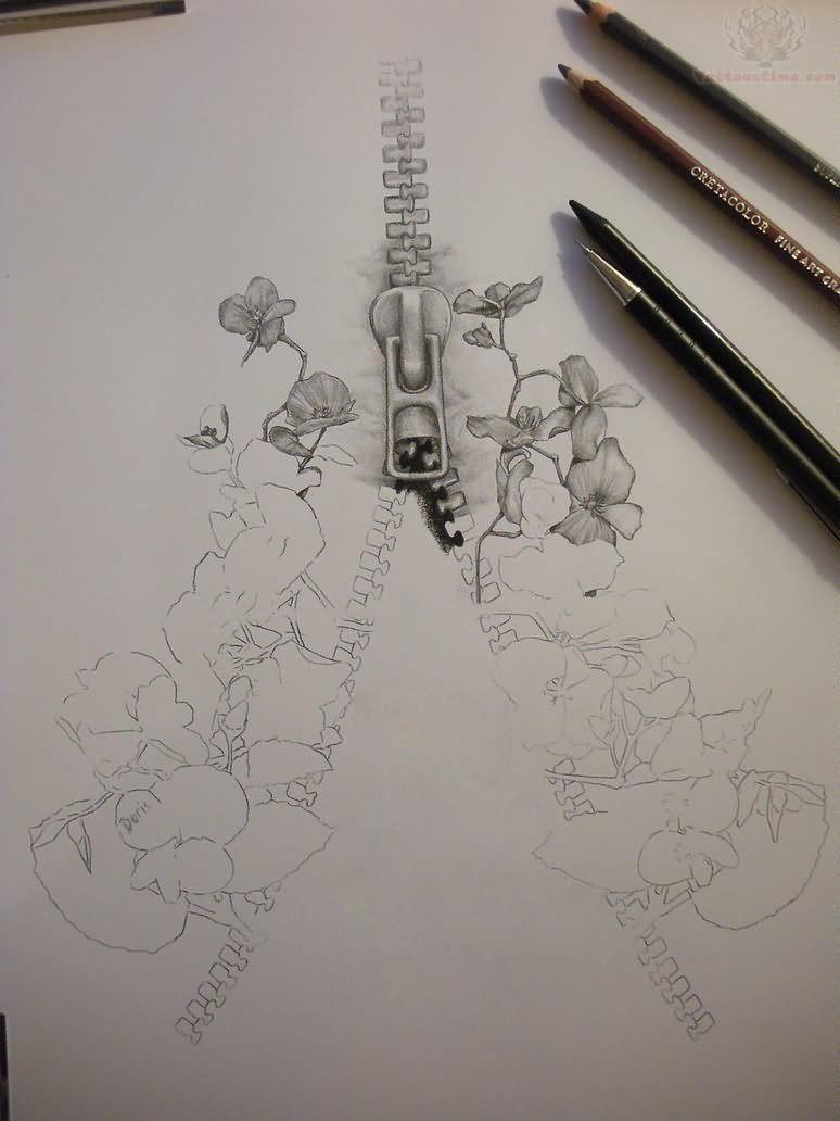 The gallery for --> Zipper Tattoo Drawing