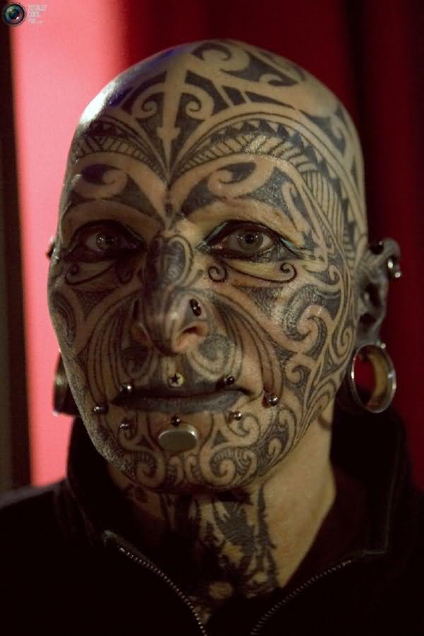 Extreme facial tattoos