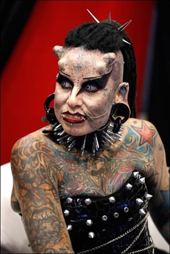 Extreme Tattoo And Piercing On Body