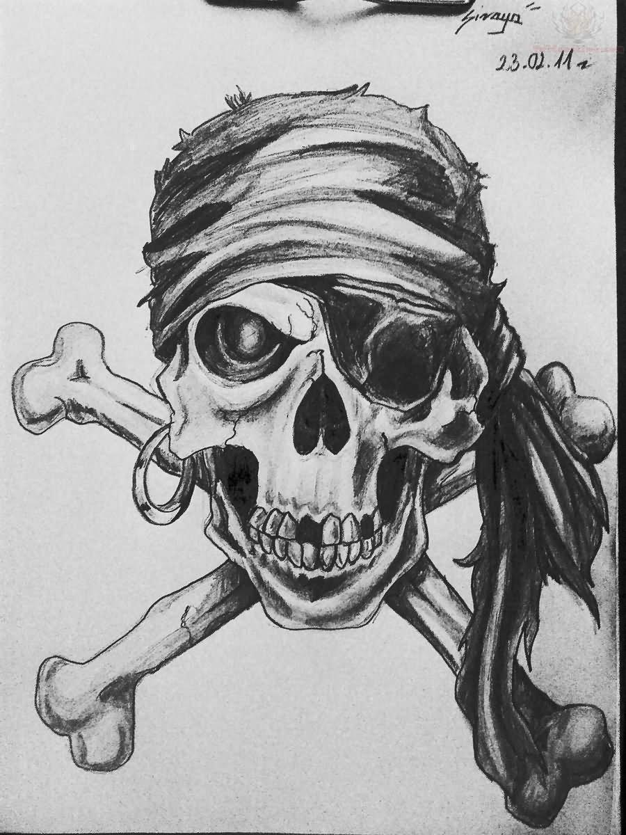 Pirate Skull Tattoo Images amp Designs